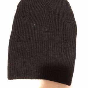 Distressed slouch beanie